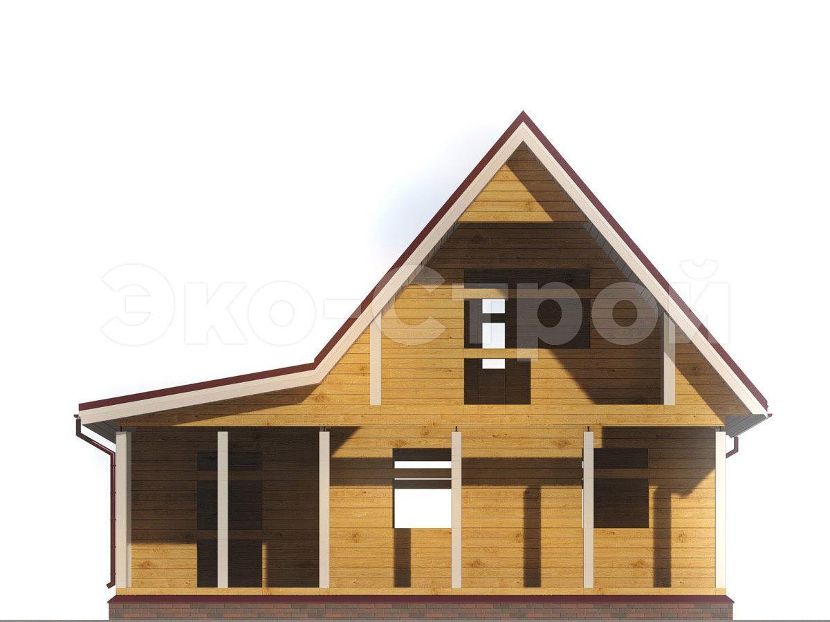 Дом из бруса ДУ 053 вид 4
