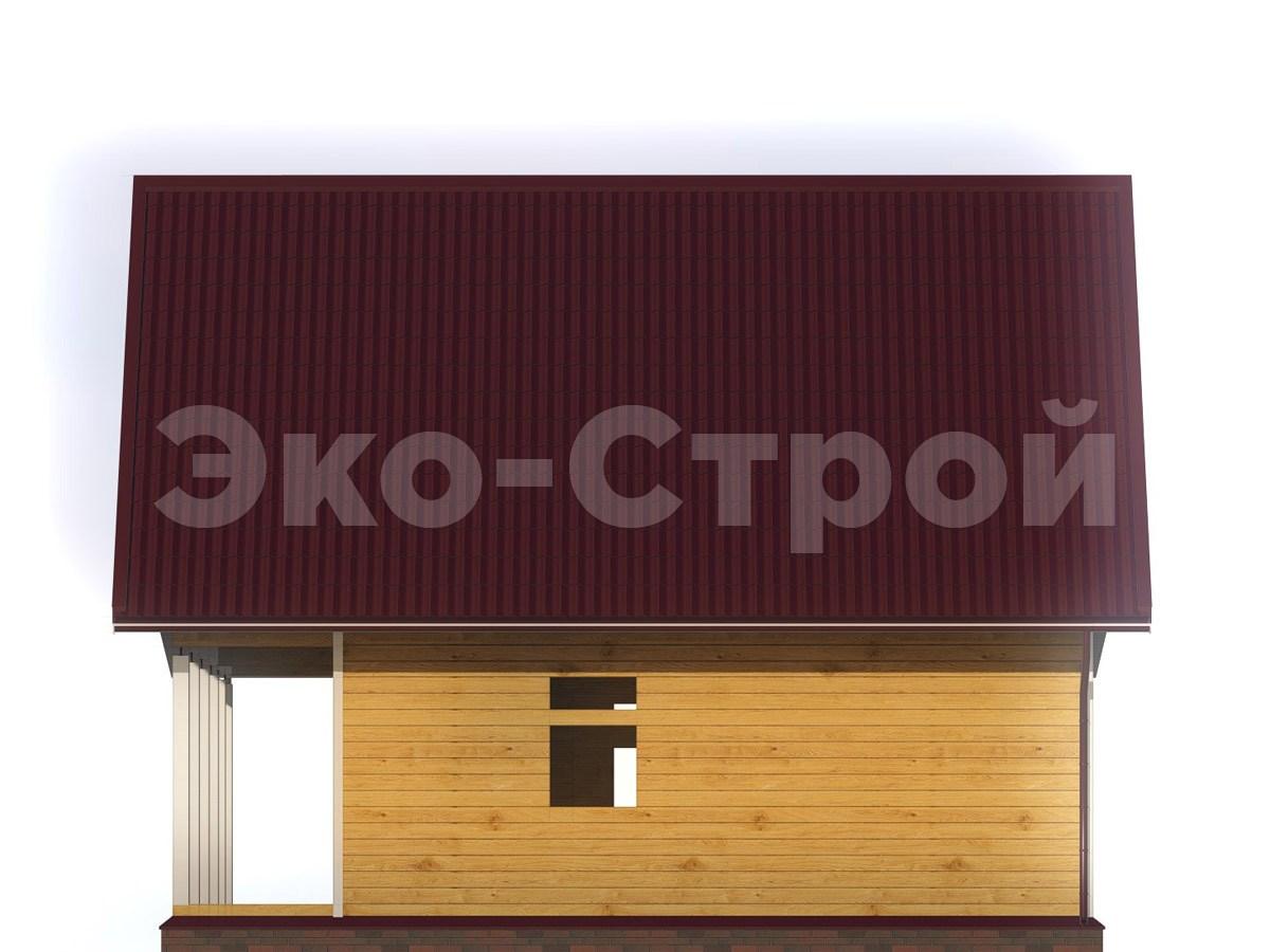 Дом из бруса ДУ 053 вид 3
