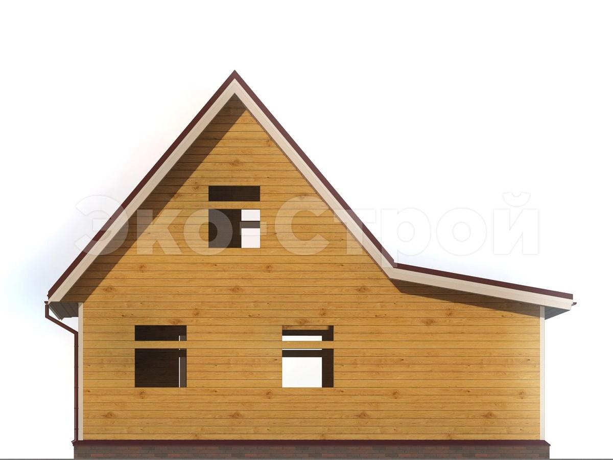 Дом из бруса ДУ 053 вид 2