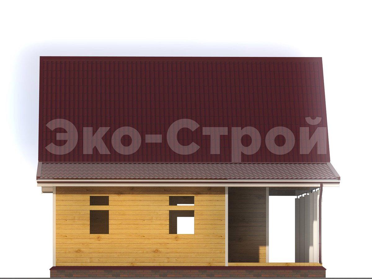 Дом из бруса ДУ 053 вид 1