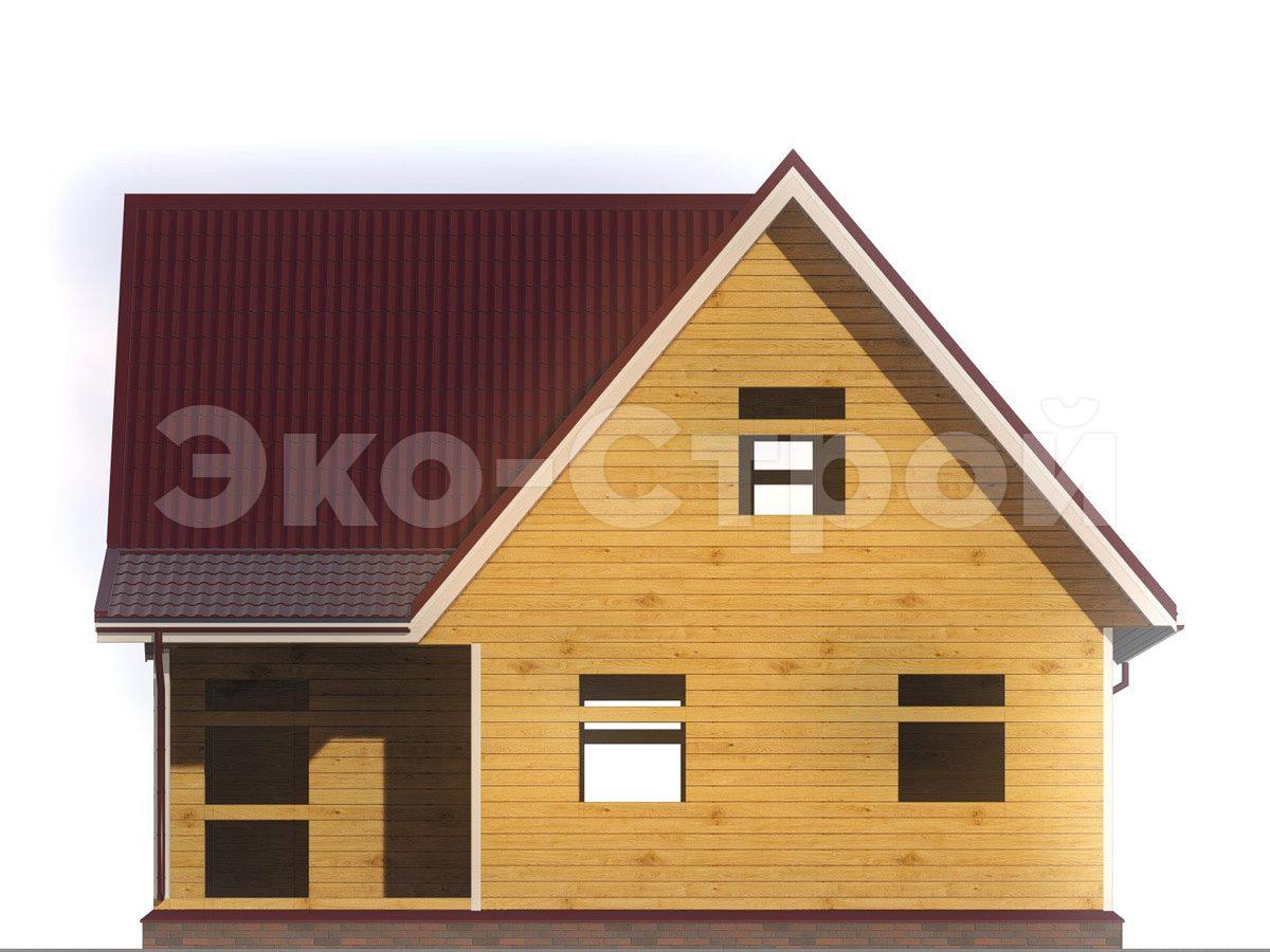 Дом из бруса ДУ 054 вид 4