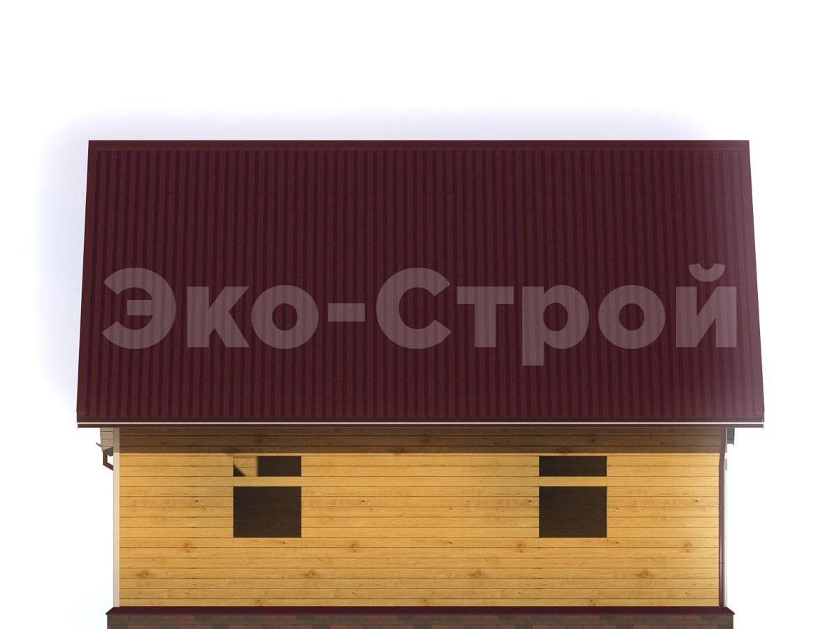 Дом из бруса ДУ 054 вид 3