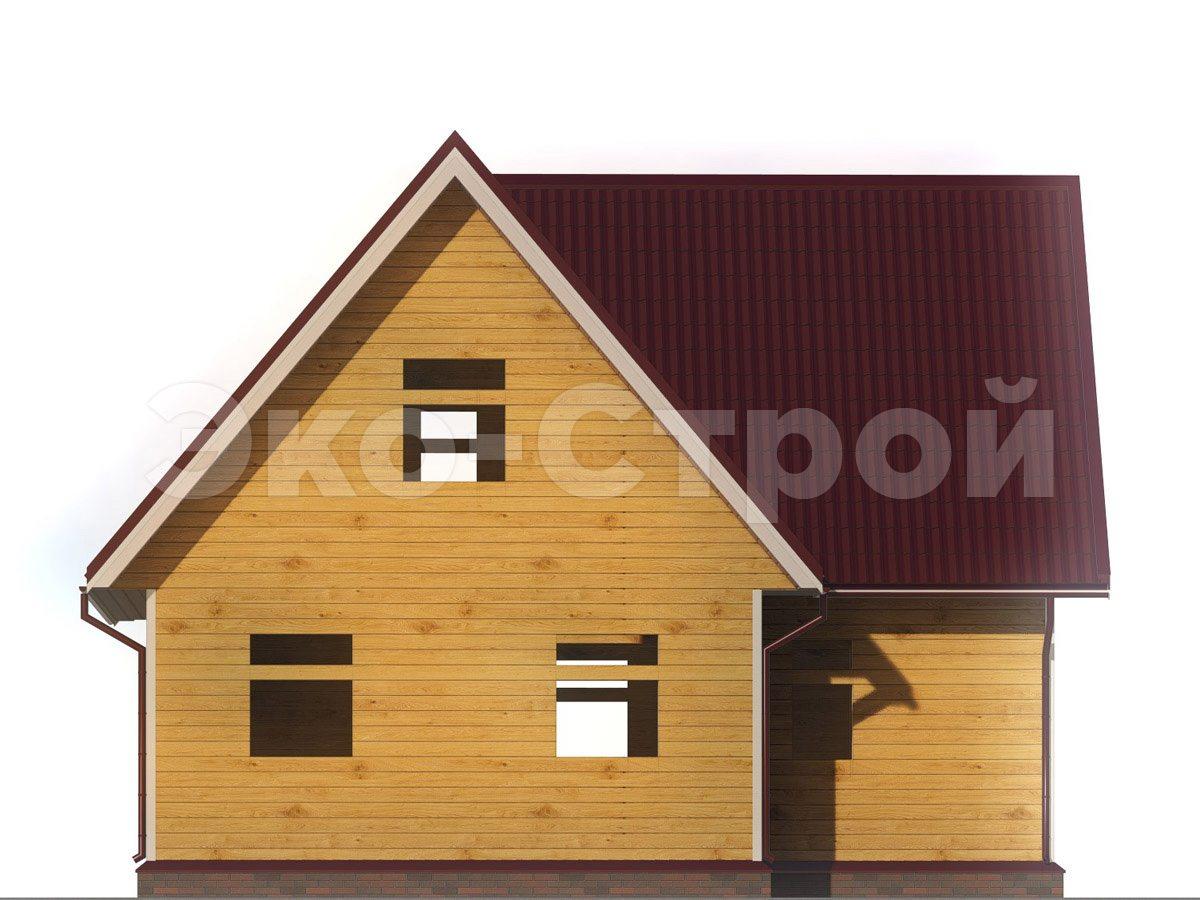 Дом из бруса ДУ 054 вид 2