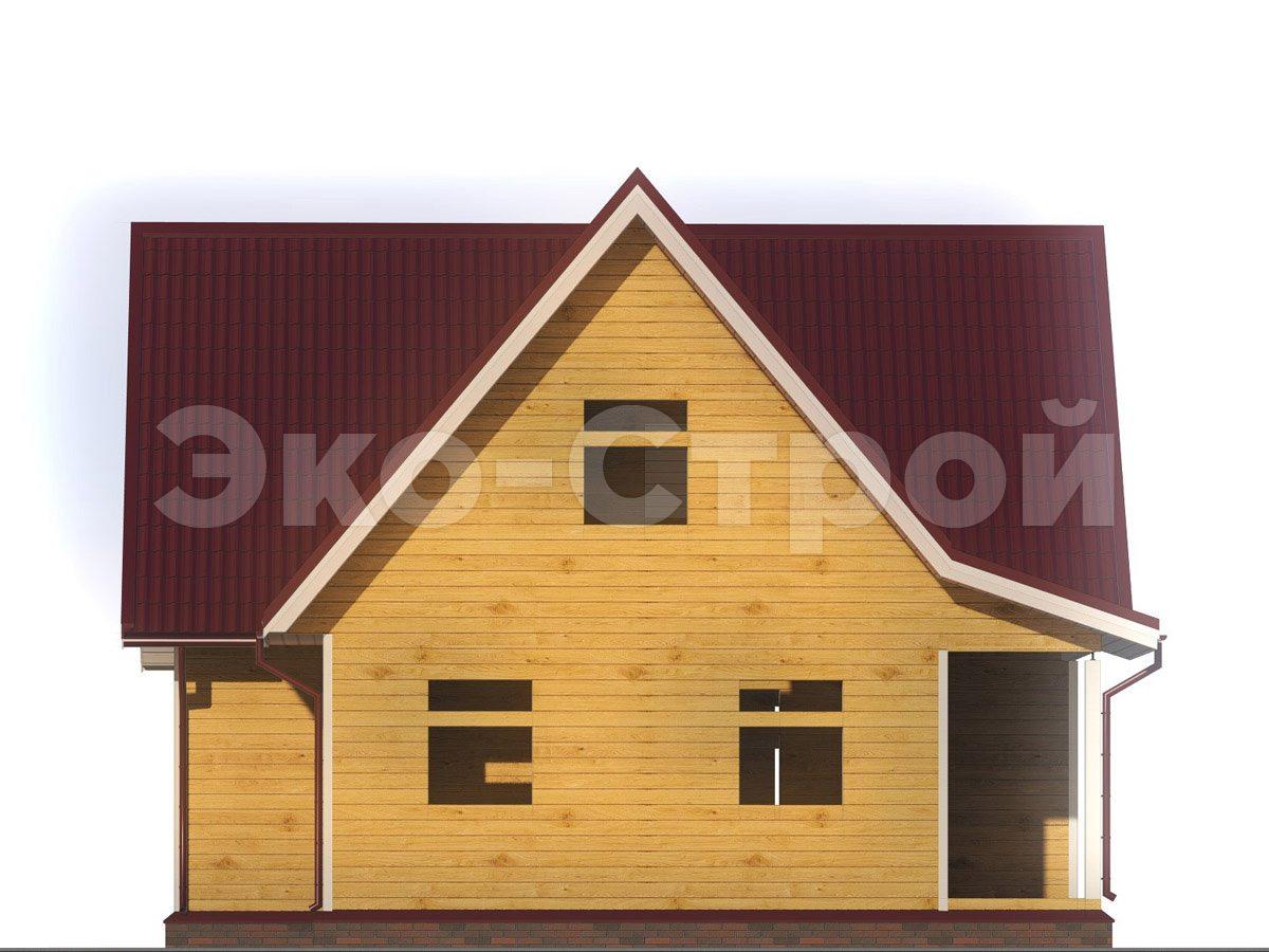 Дом из бруса ДУ 054 вид 1