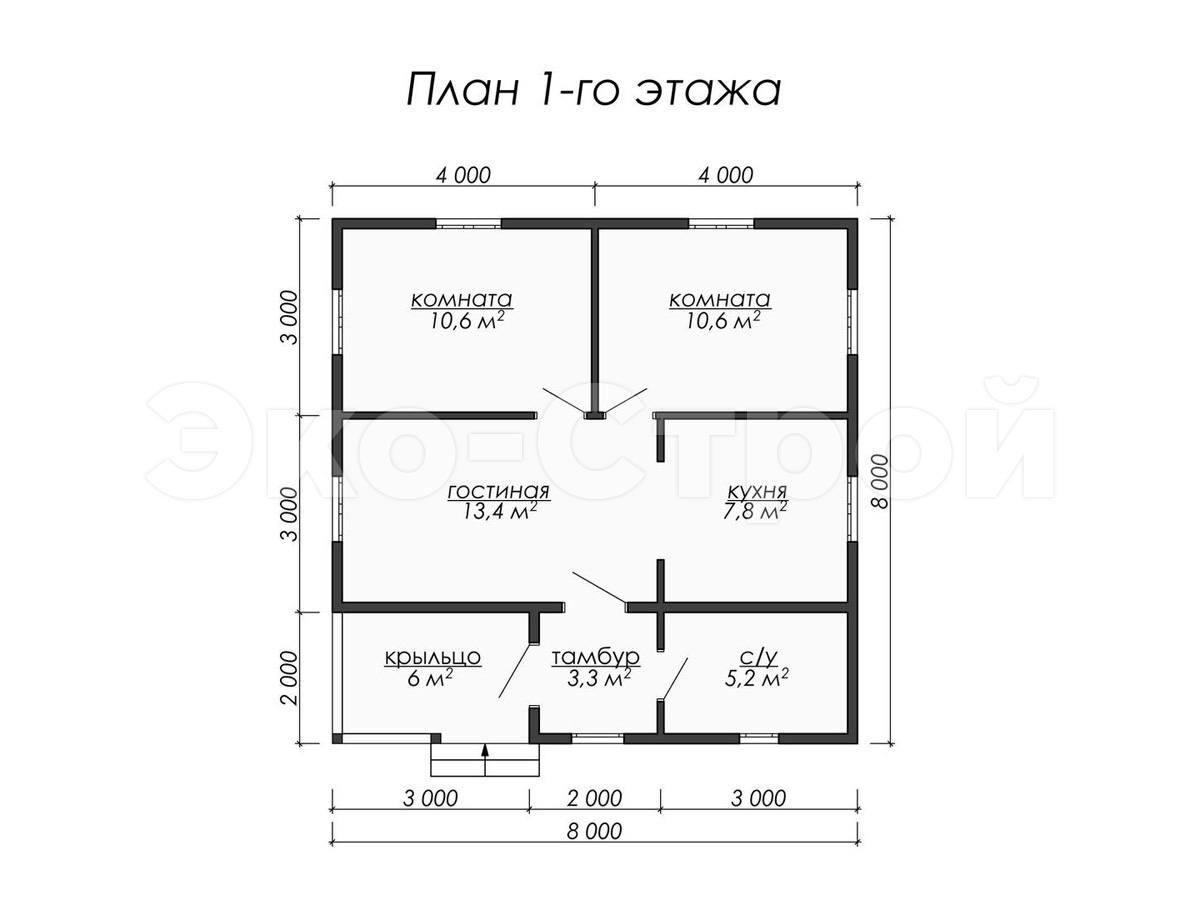 Дом из бруса ДУ 055 план