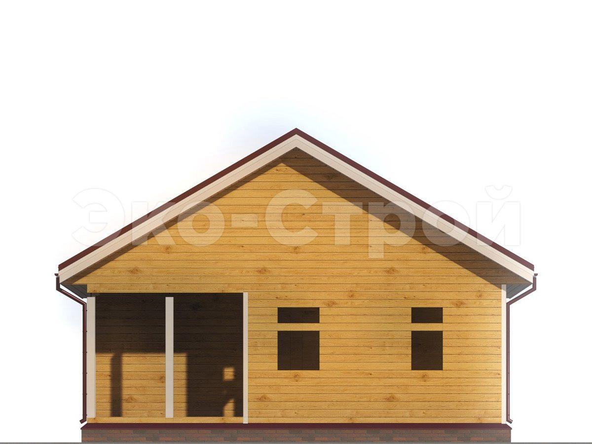 Дом из бруса ДУ 055 вид 4