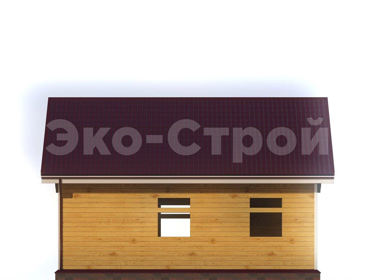 Дом из бруса ДУ 055 вид 3