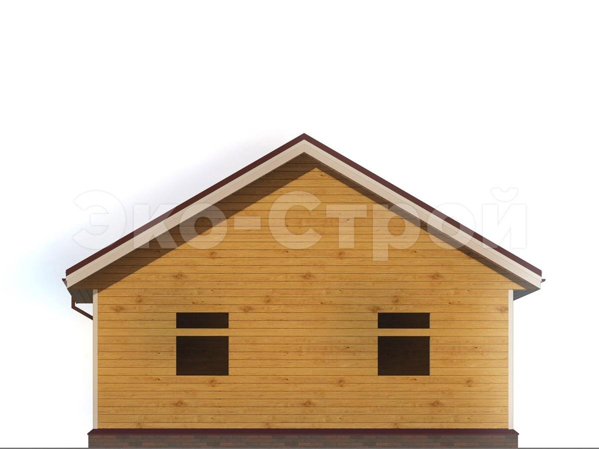 Дом из бруса ДУ 055 вид 2