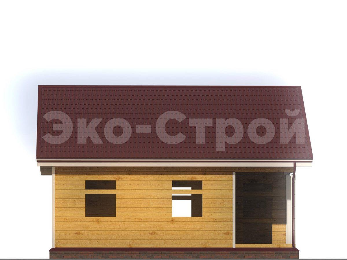 Дом из бруса ДУ 055 вид 1