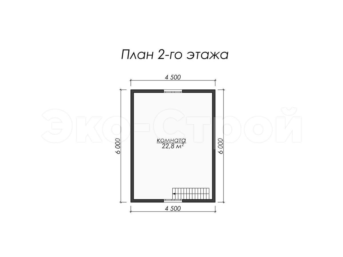 Дом из бруса ДУ 056 план 2 эт