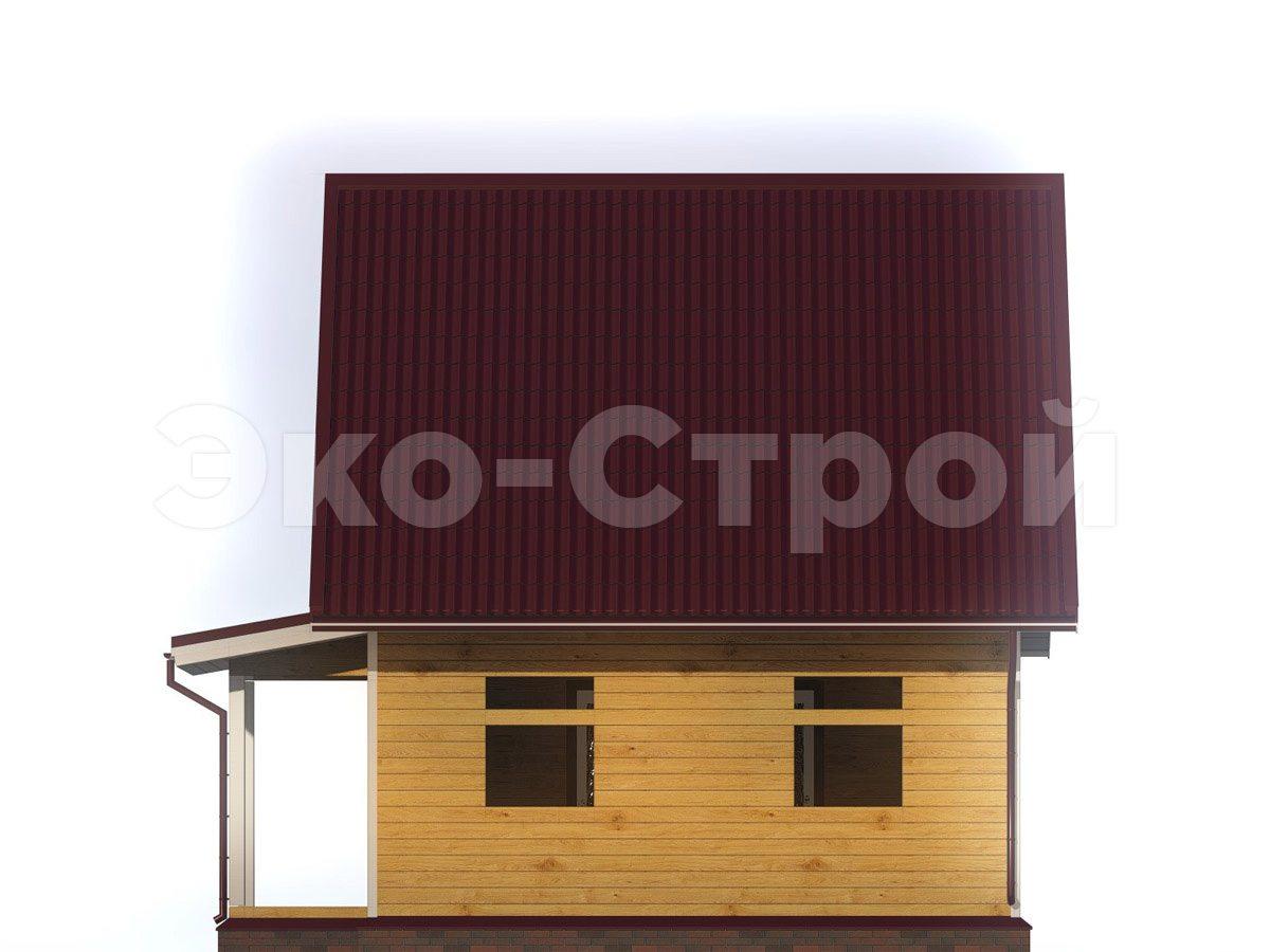 Дом из бруса ДУ 056 вид 3