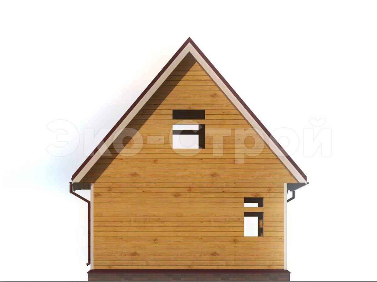 Дом из бруса ДУ 056 вид 2