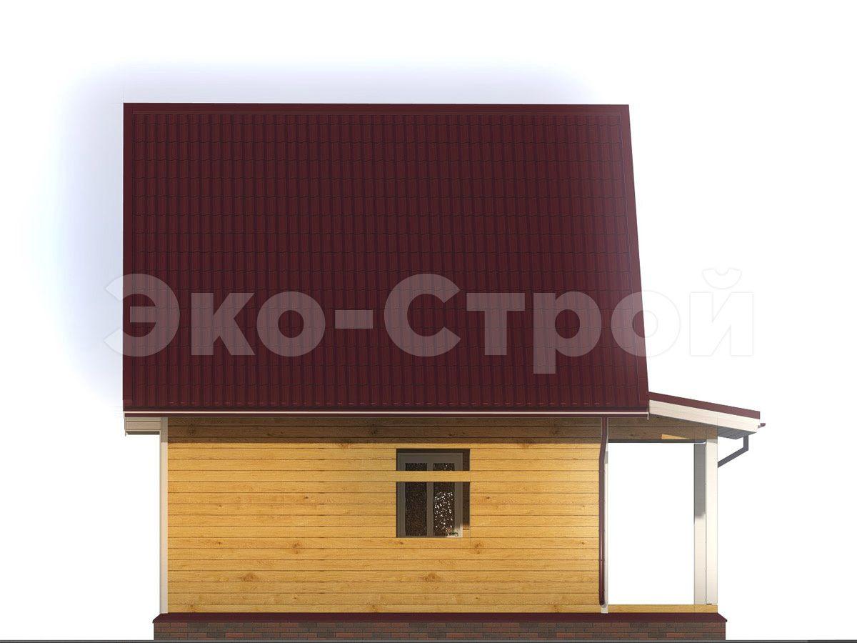 Дом из бруса ДУ 056 вид 1