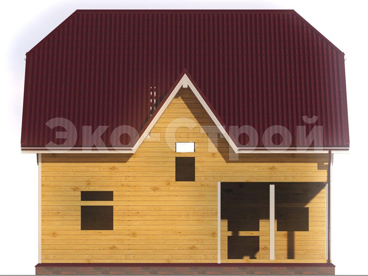 Дом из бруса ДУ 057 вид 4