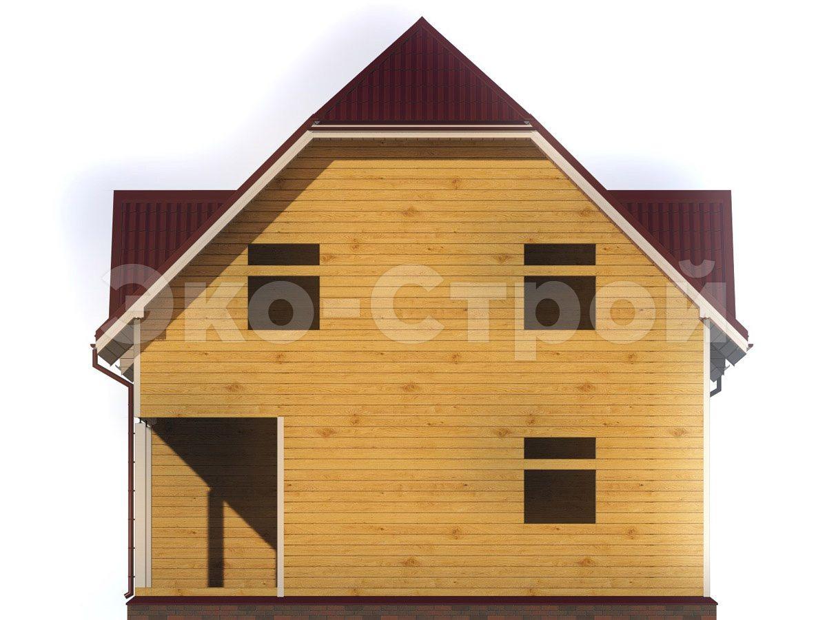 Дом из бруса ДУ 057 вид 3