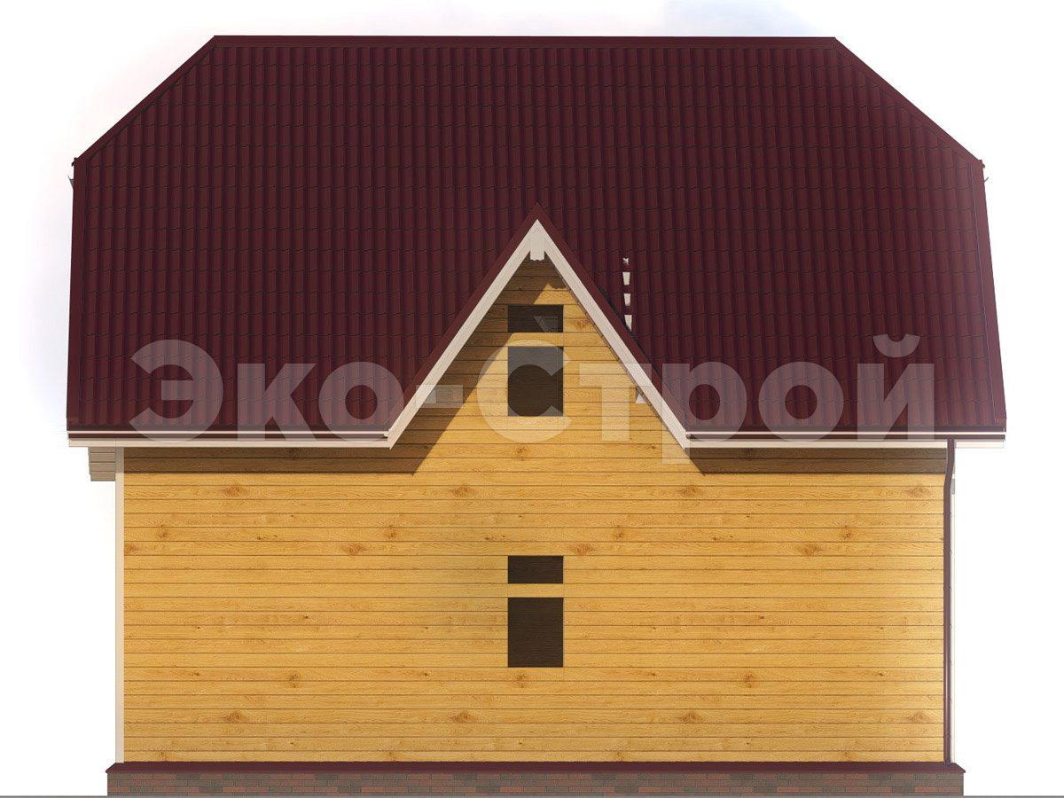 Дом из бруса ДУ 057 вид 2