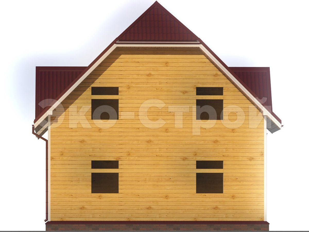 Дом из бруса ДУ 057 вид 1
