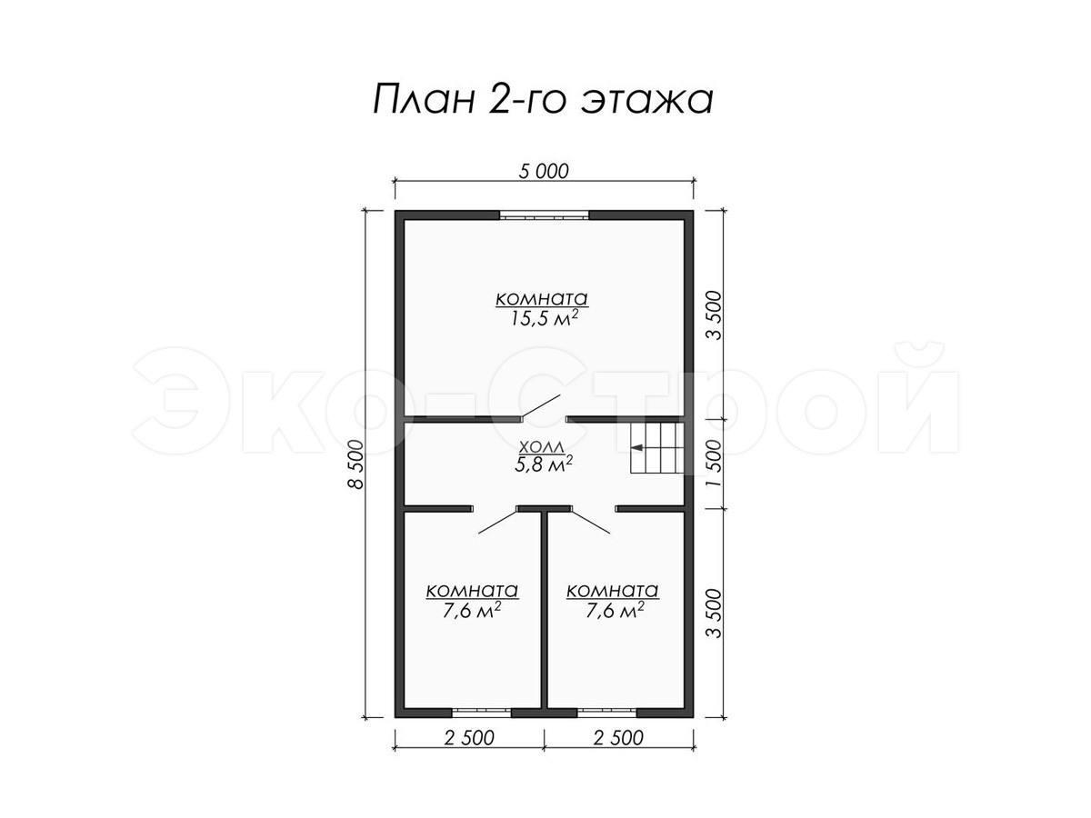 Дом из бруса ДУ 058 план 2 эт