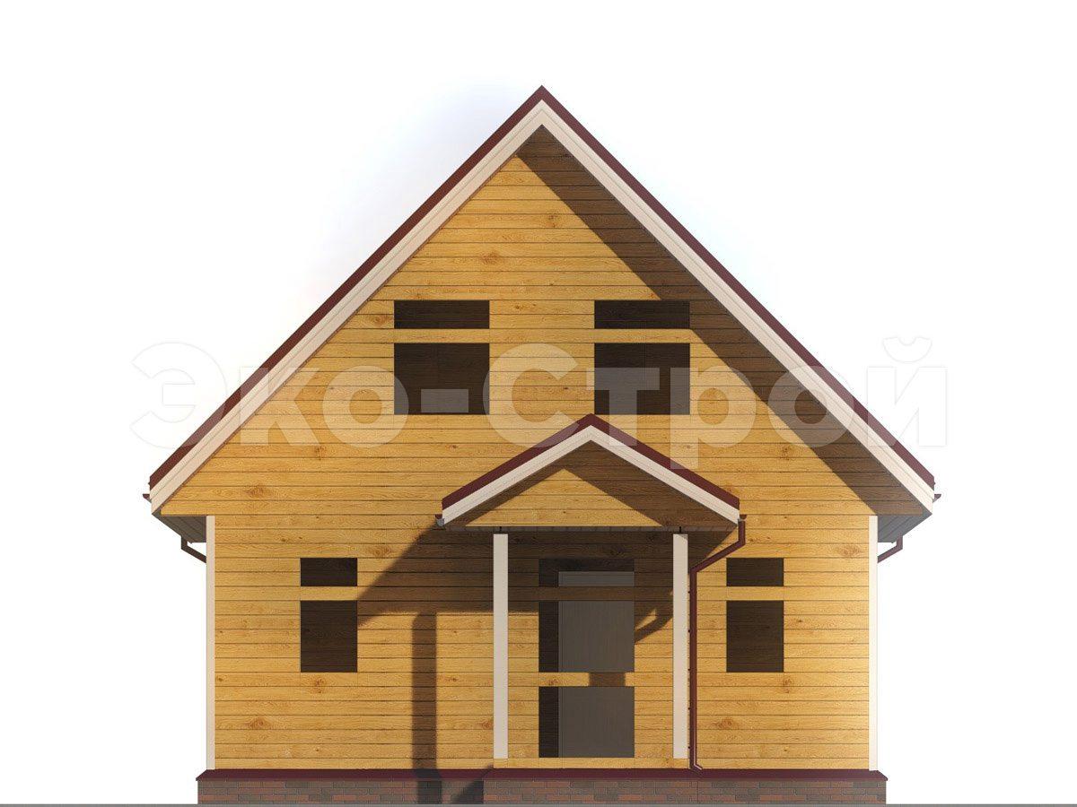 Дом из бруса ДУ 058 вид 4