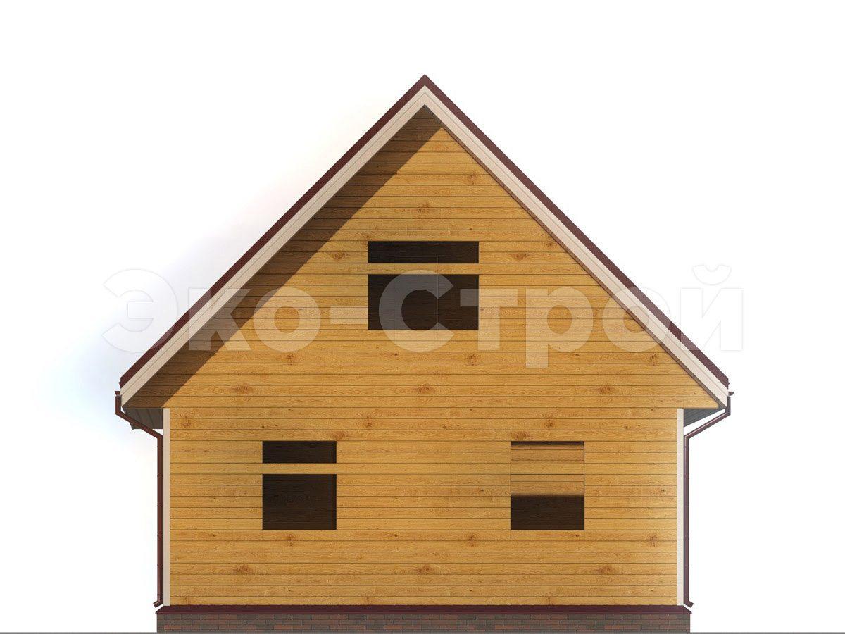 Дом из бруса ДУ 058 вид 2
