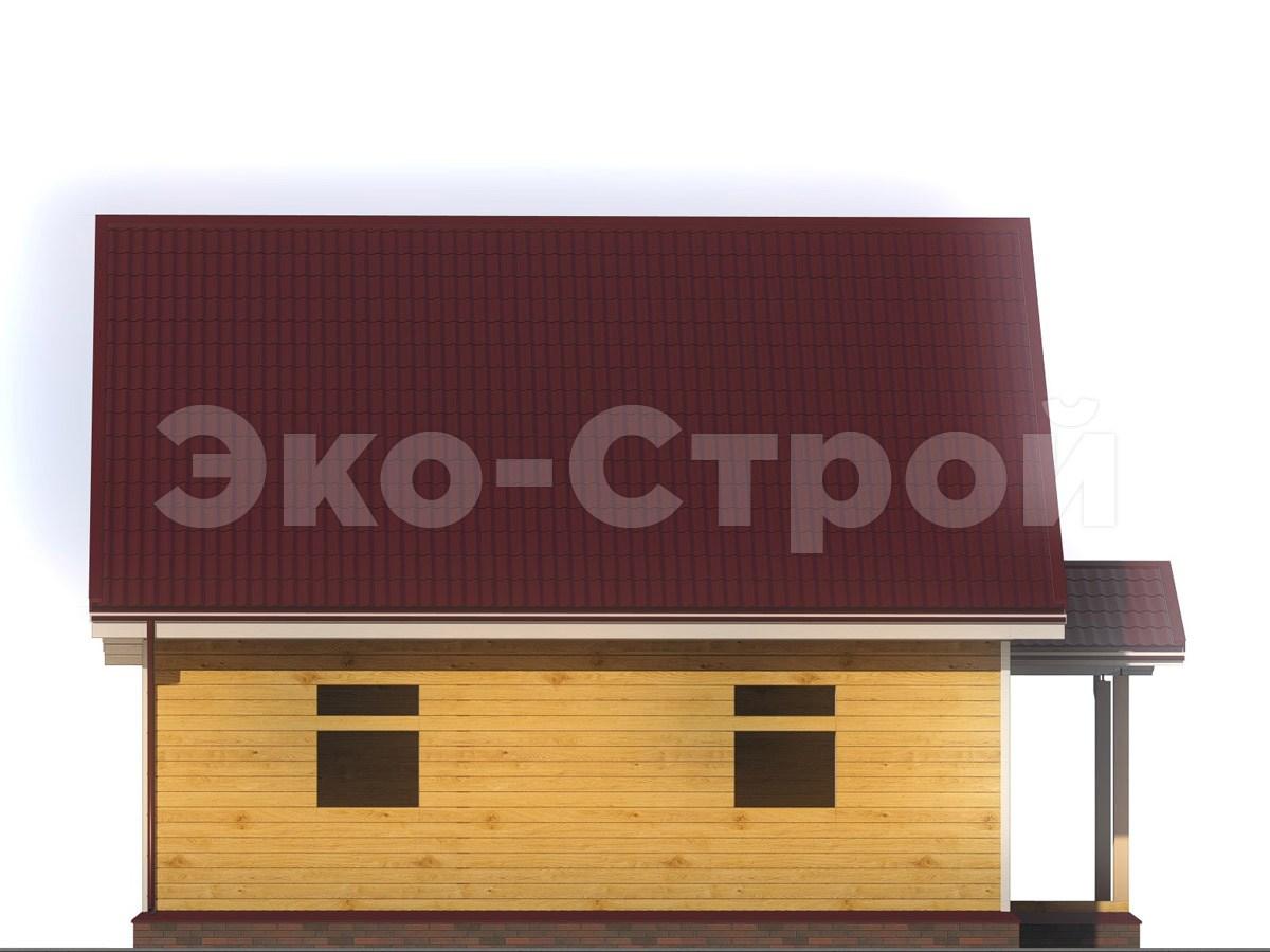 Дом из бруса ДУ 058 вид 1