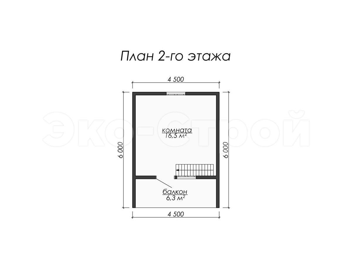 Дом из бруса ДУ 059 план 2 эт