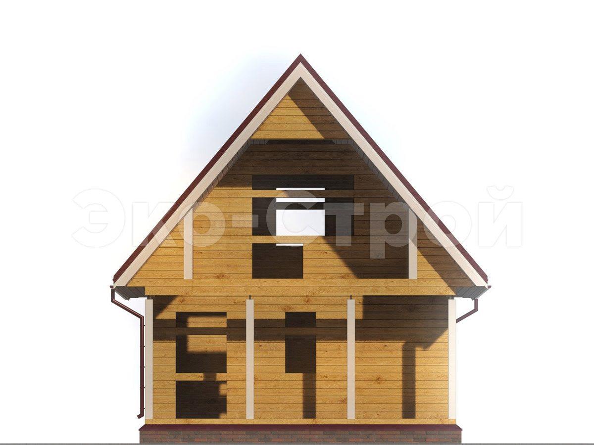 Дом из бруса ДУ 059 вид 4