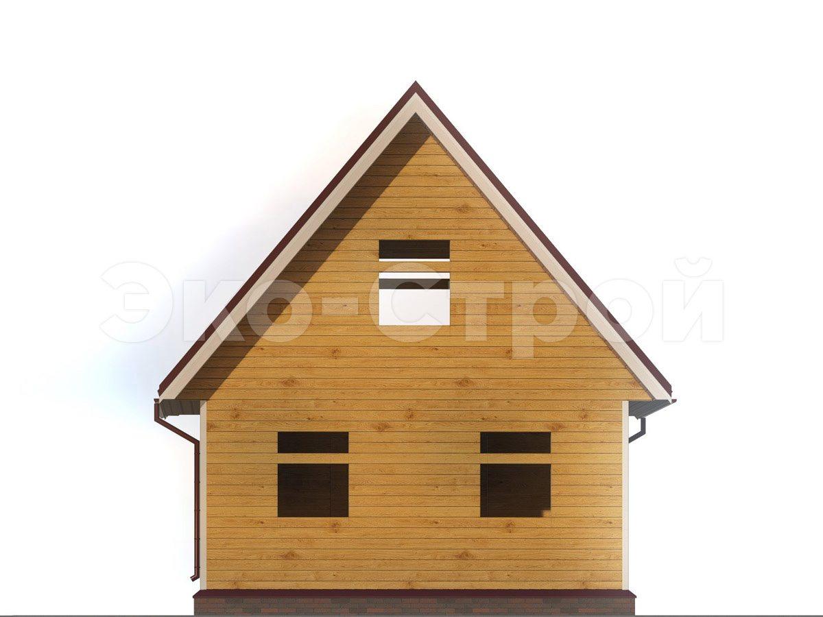 Дом из бруса ДУ 059 вид 2