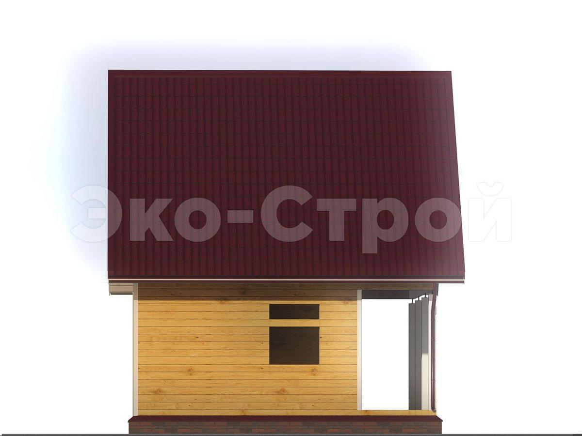 Дом из бруса ДУ 059 вид 1