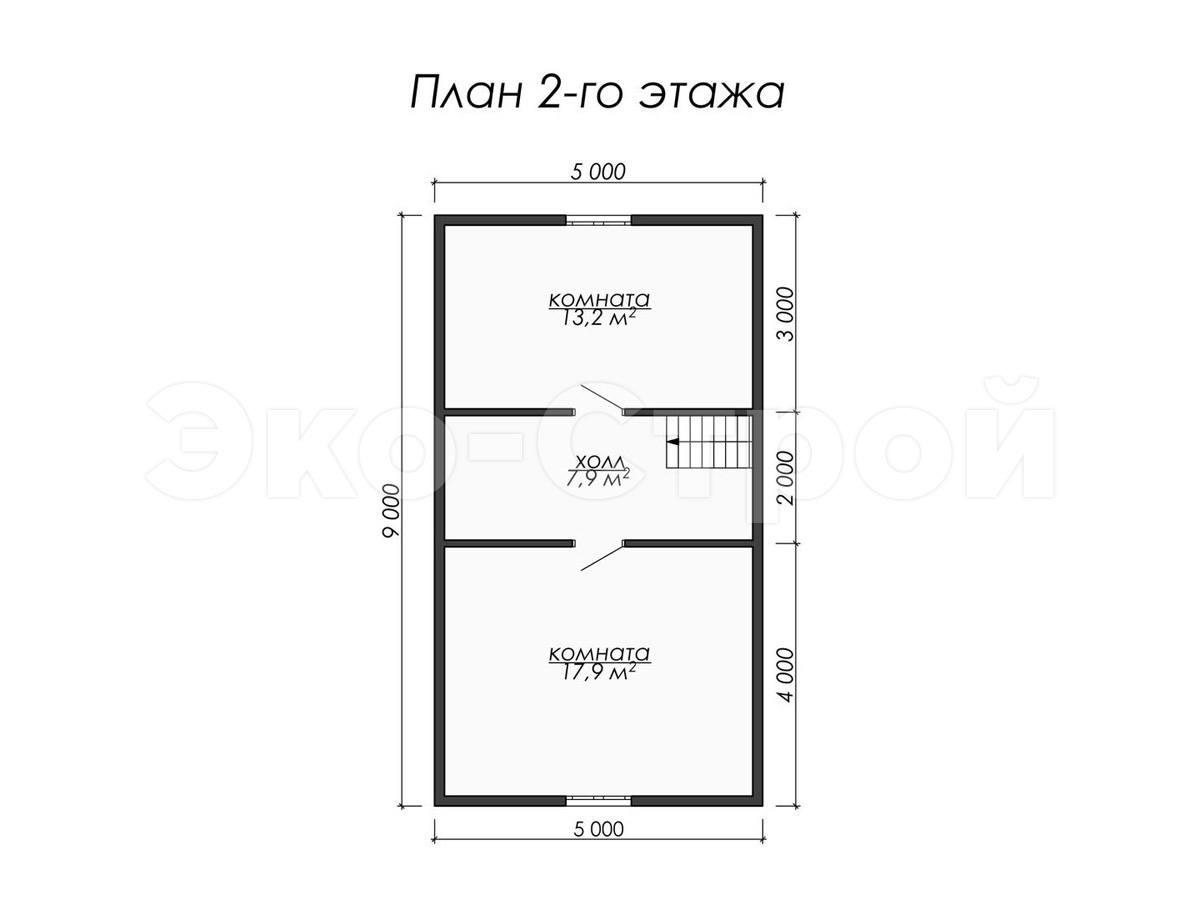 Дом из бруса ДУ 060 план 2 эт