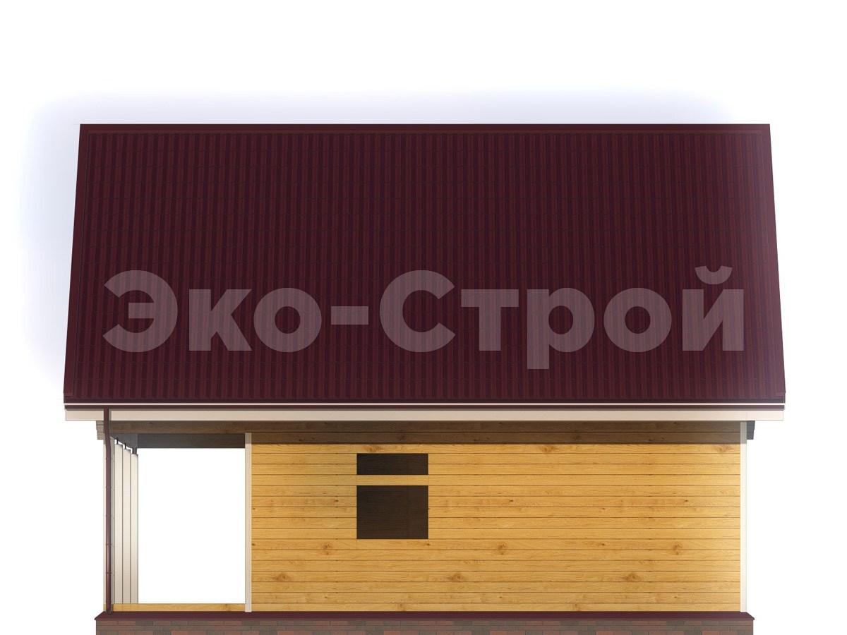 Дом из бруса ДУ 060 вид 3