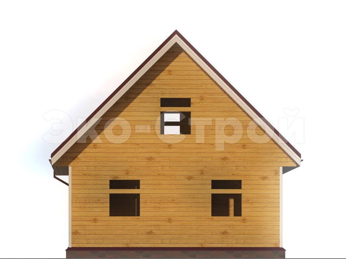 Дом из бруса ДУ 060 вид 2