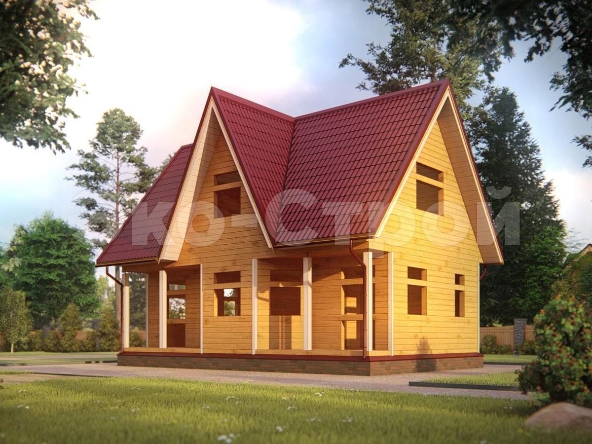 Дом из бруса ДУ 061 под усадку