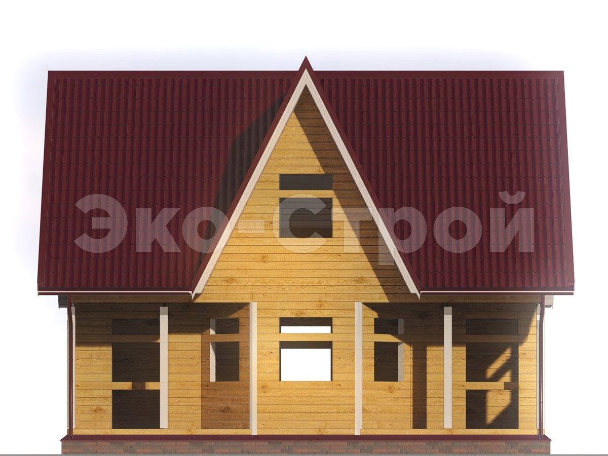 Дом из бруса ДУ 061 вид 4