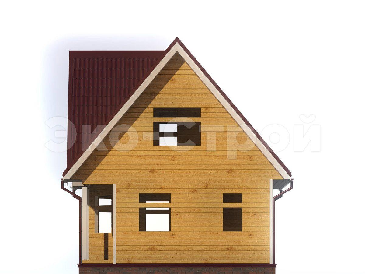 Дом из бруса ДУ 061 вид 3