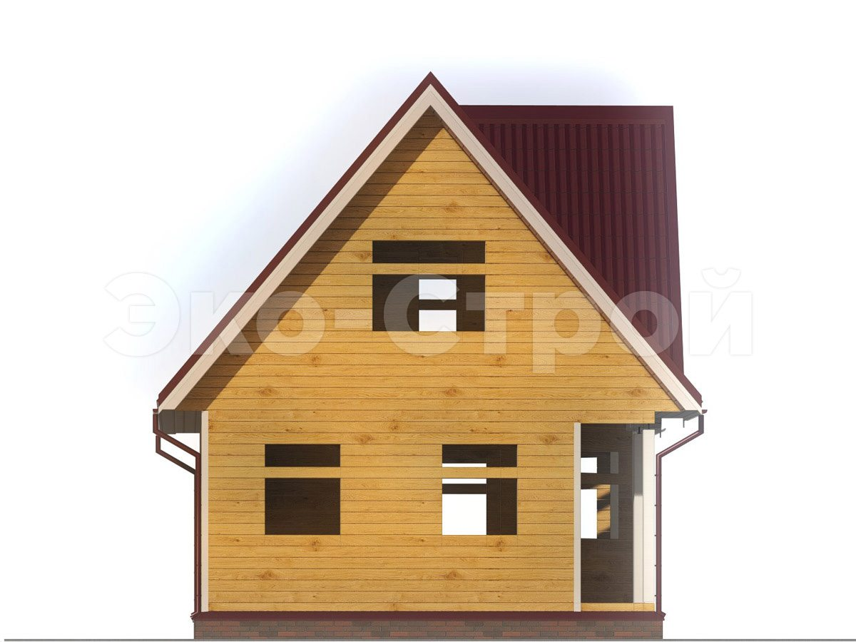 Дом из бруса ДУ 061 вид 1