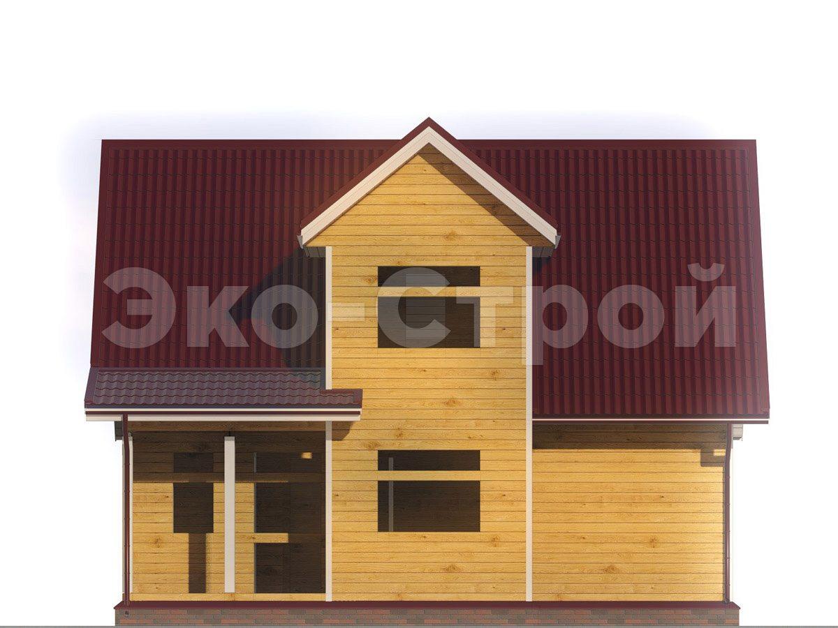 Дом из бруса ДУ 062 вид 4