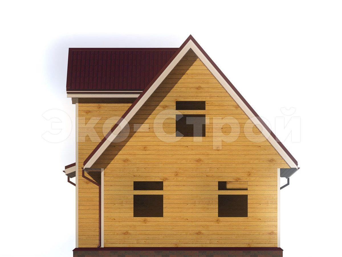 Дом из бруса ДУ 062 вид 3