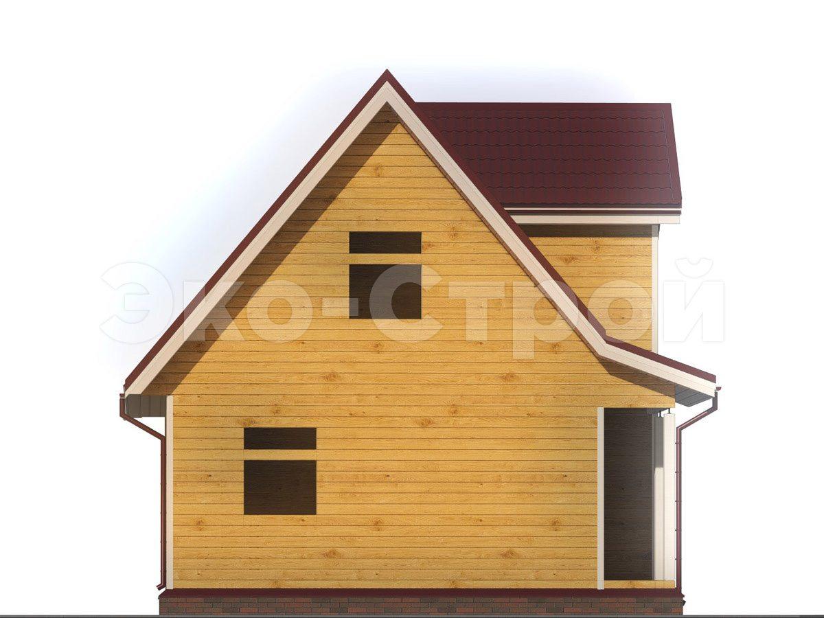 Дом из бруса ДУ 062 вид 1