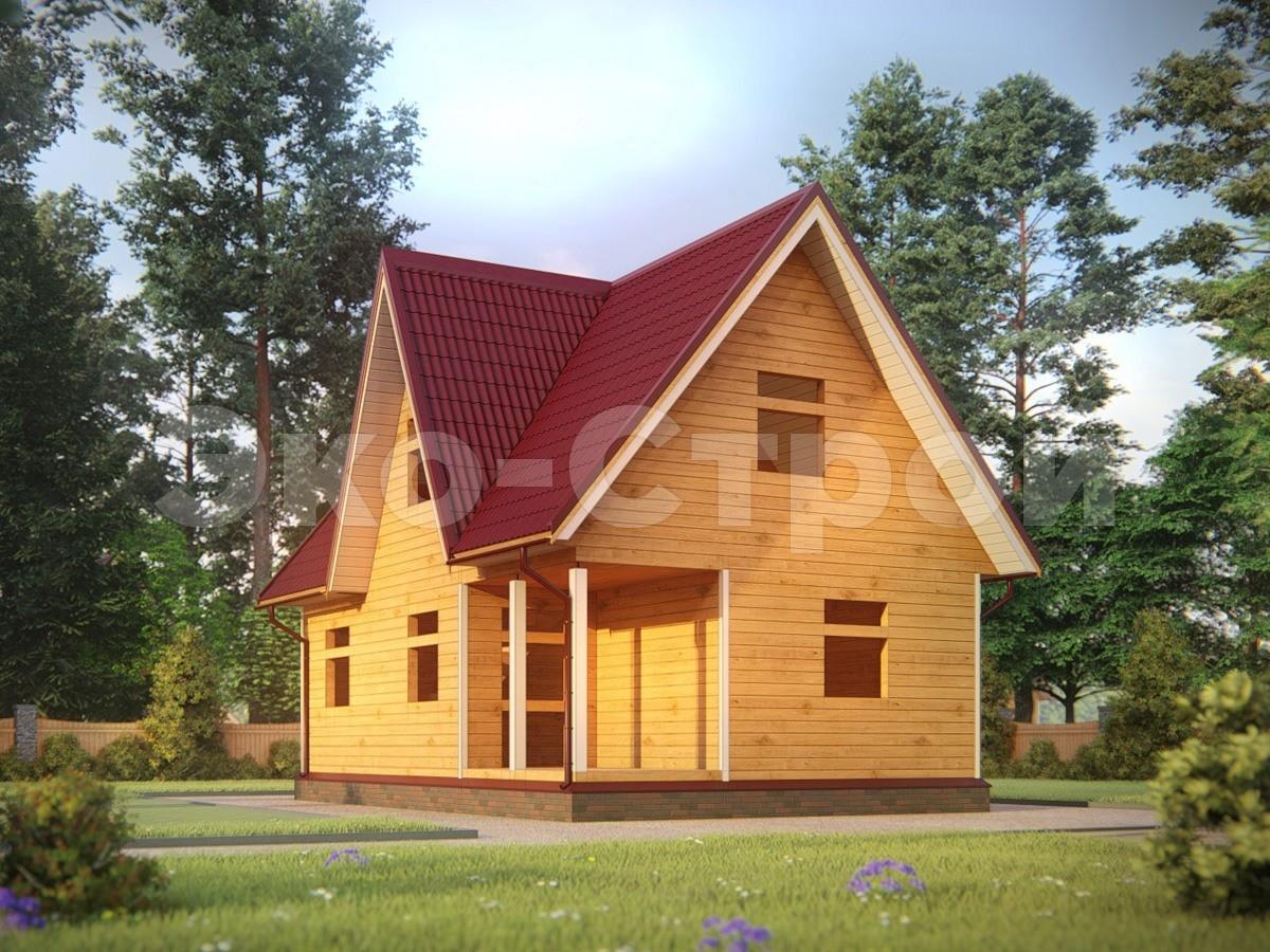 Дом из бруса ДУ 063 под усадку
