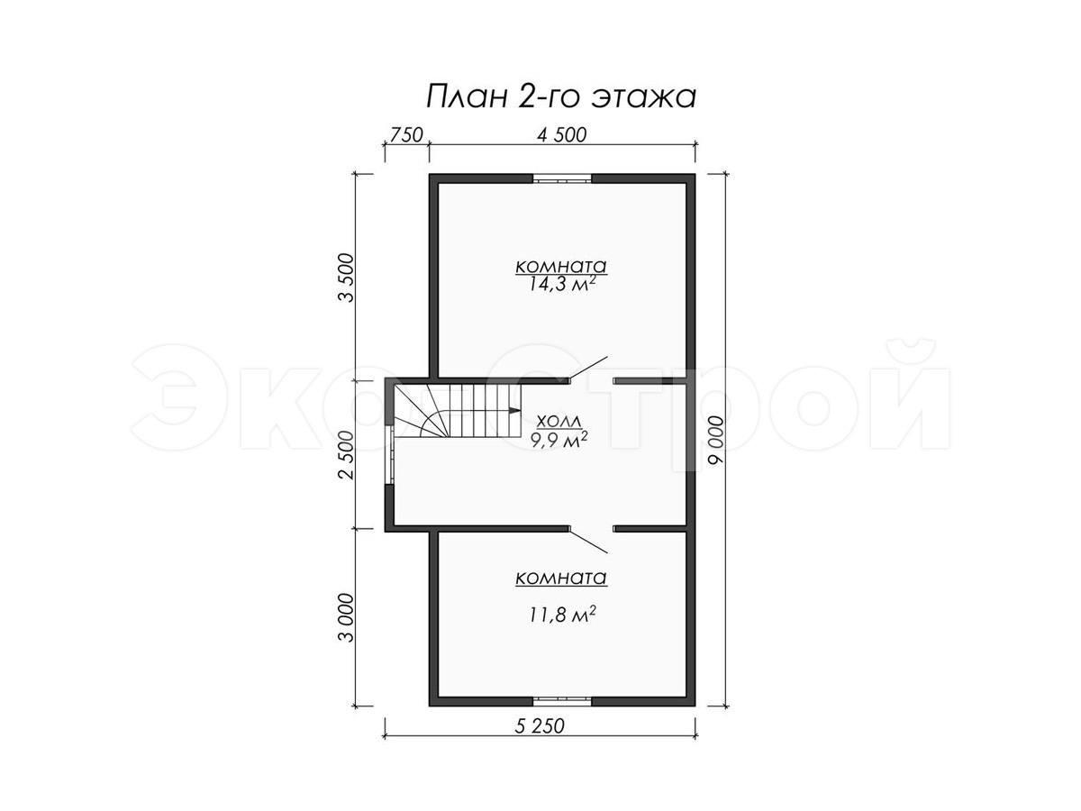 Дом из бруса ДУ 063 план 2 эт