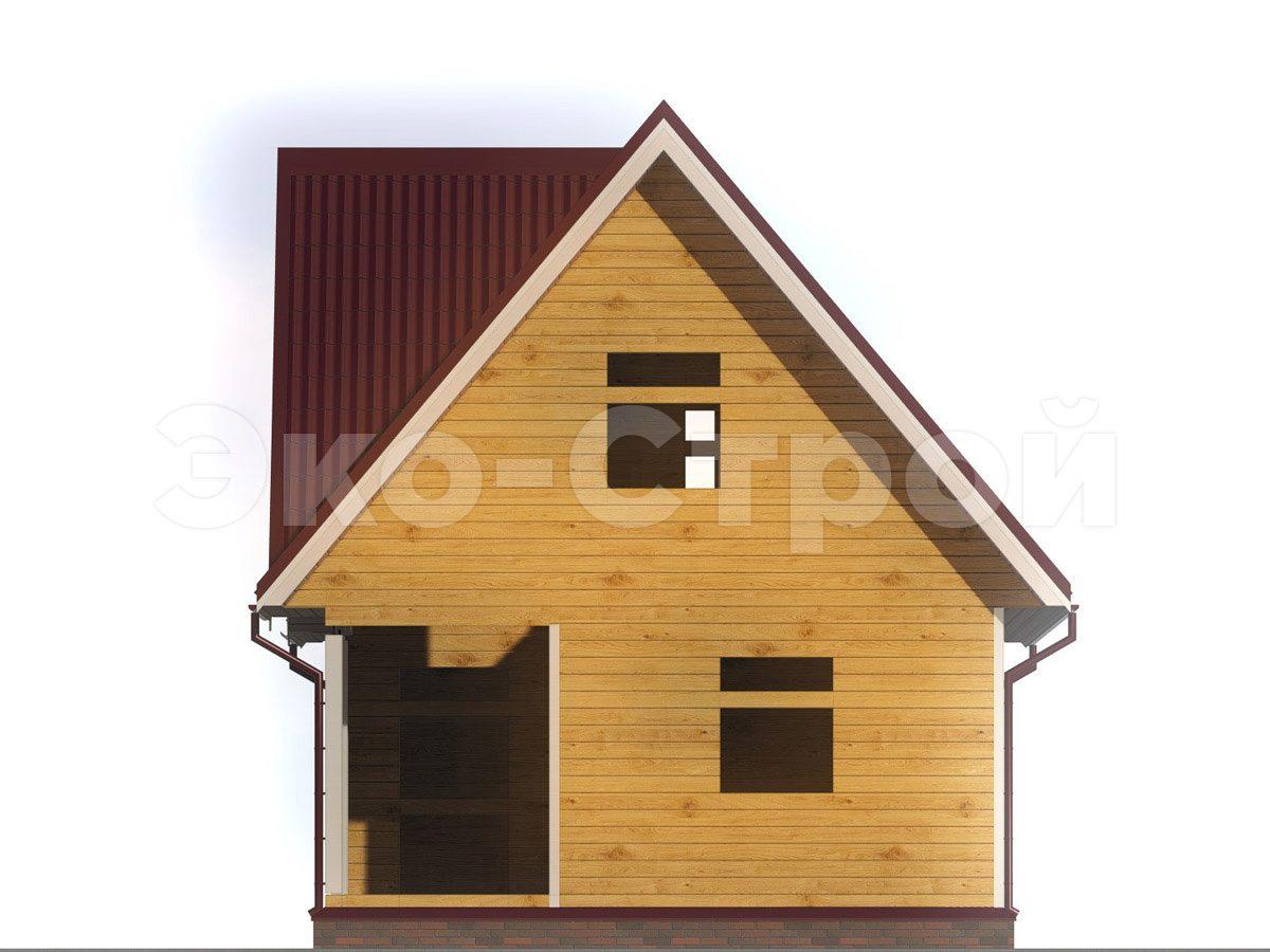 Дом из бруса ДУ 063 вид 4
