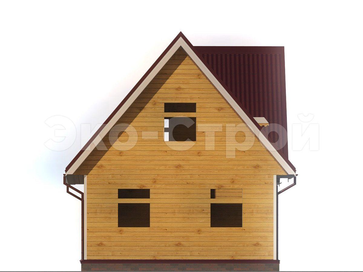 Дом из бруса ДУ 063 вид 2