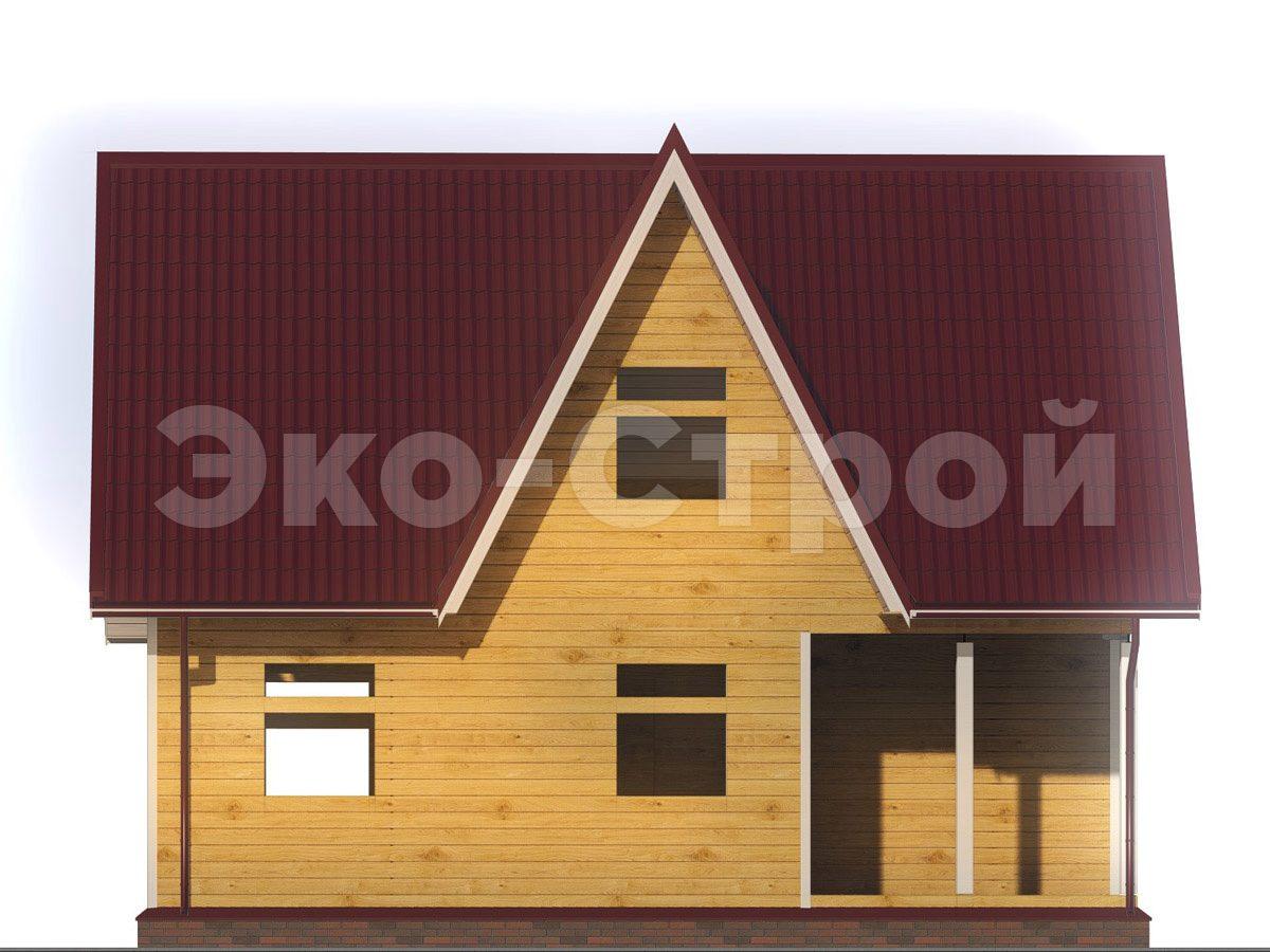 Дом из бруса ДУ 063 вид 1