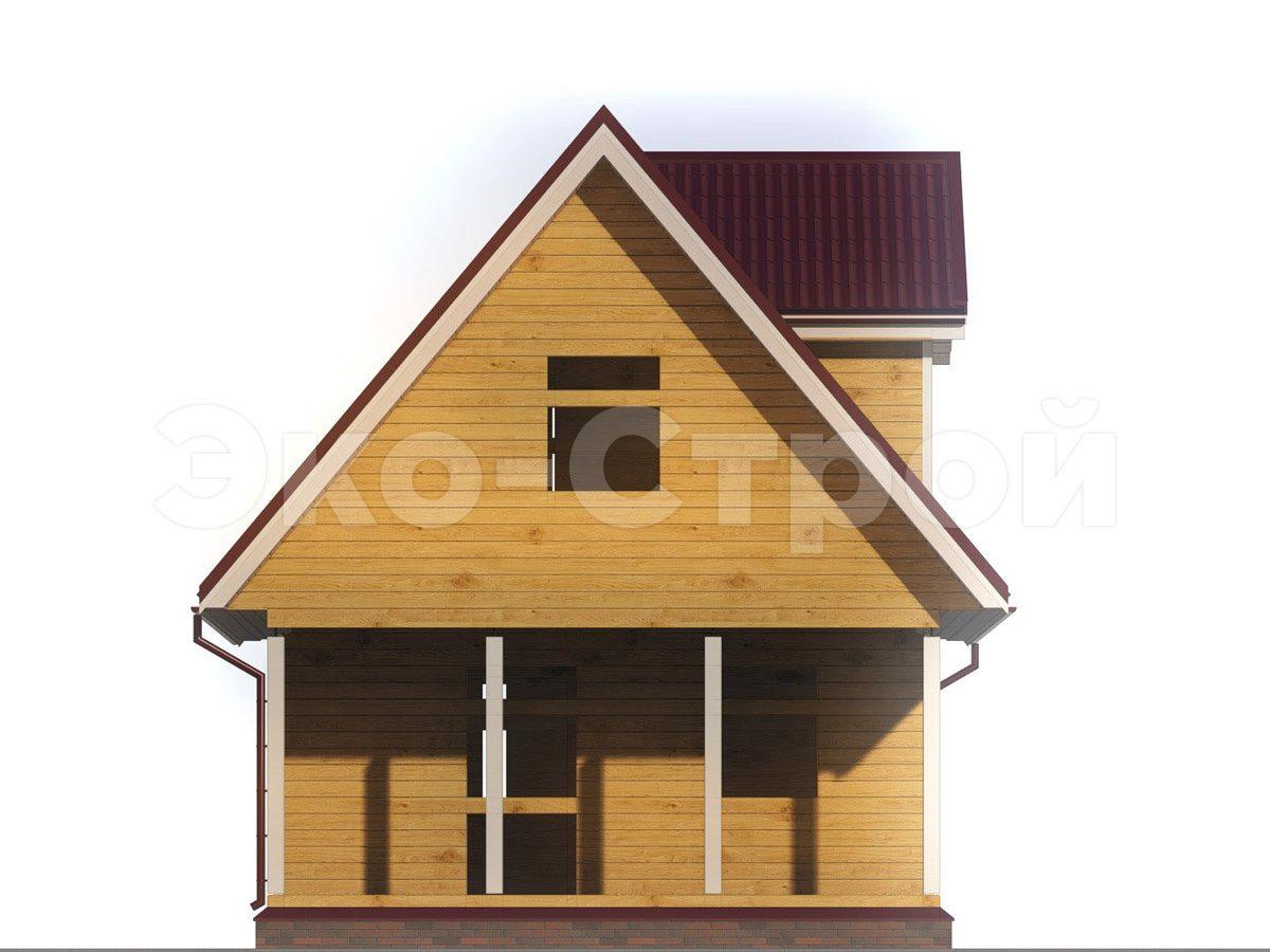 Дом из бруса ДУ 064 вид 4