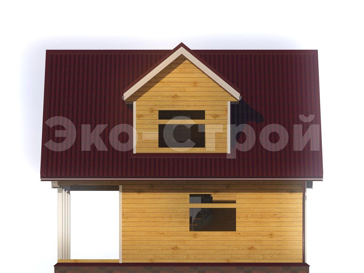 Дом из бруса ДУ 064 вид 3