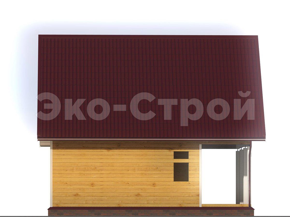 Дом из бруса ДУ 064 вид 1