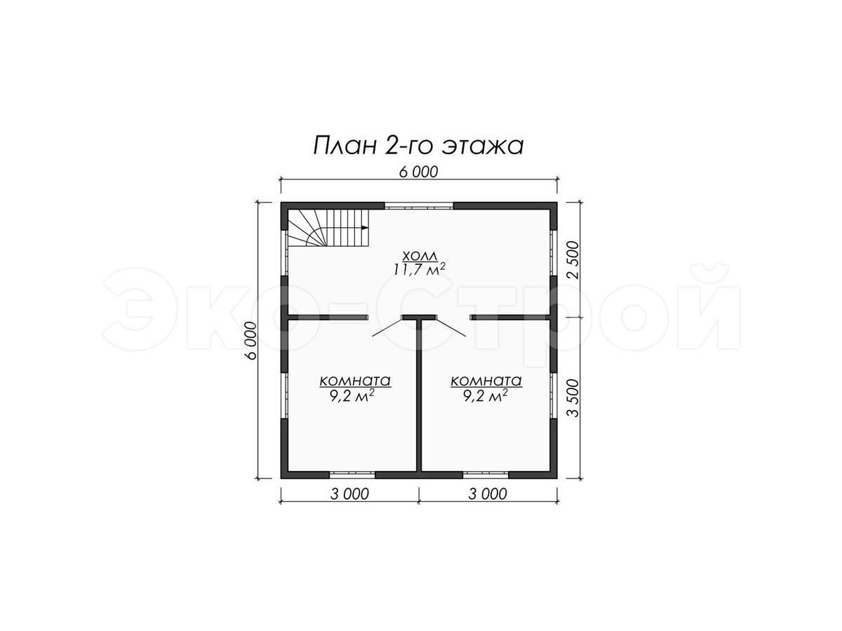 Дом из бруса ДУ 065 план 1 эт