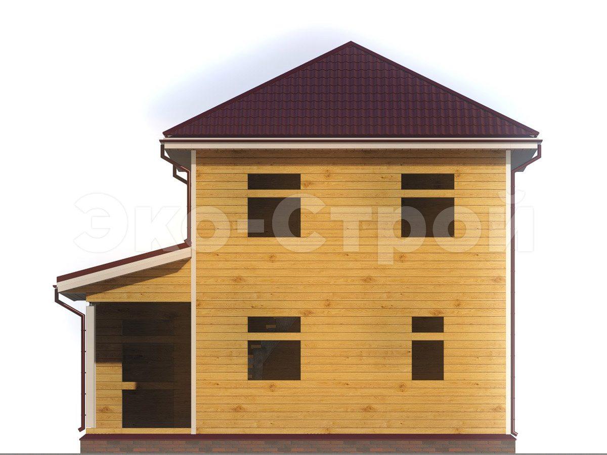 Дом из бруса ДУ 065 вид 4