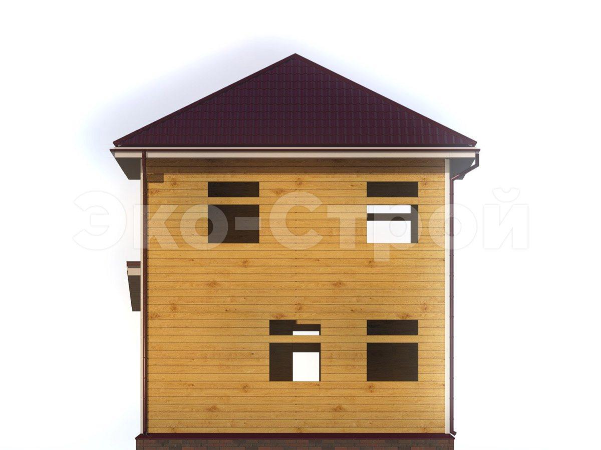 Дом из бруса ДУ 065 вид 3